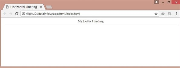 HTML Horizontal Line tag - List of basic HTML tag