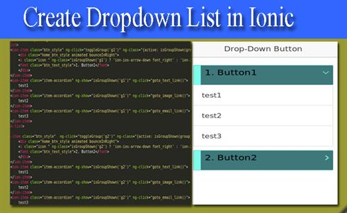 Create drop down list in ionic - DataInFlow