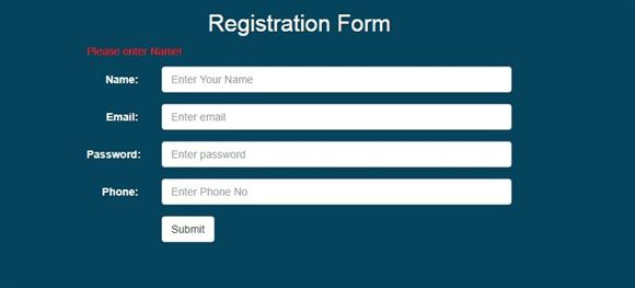 jQuery validation – Name, Email, Password and Phone no validation ...