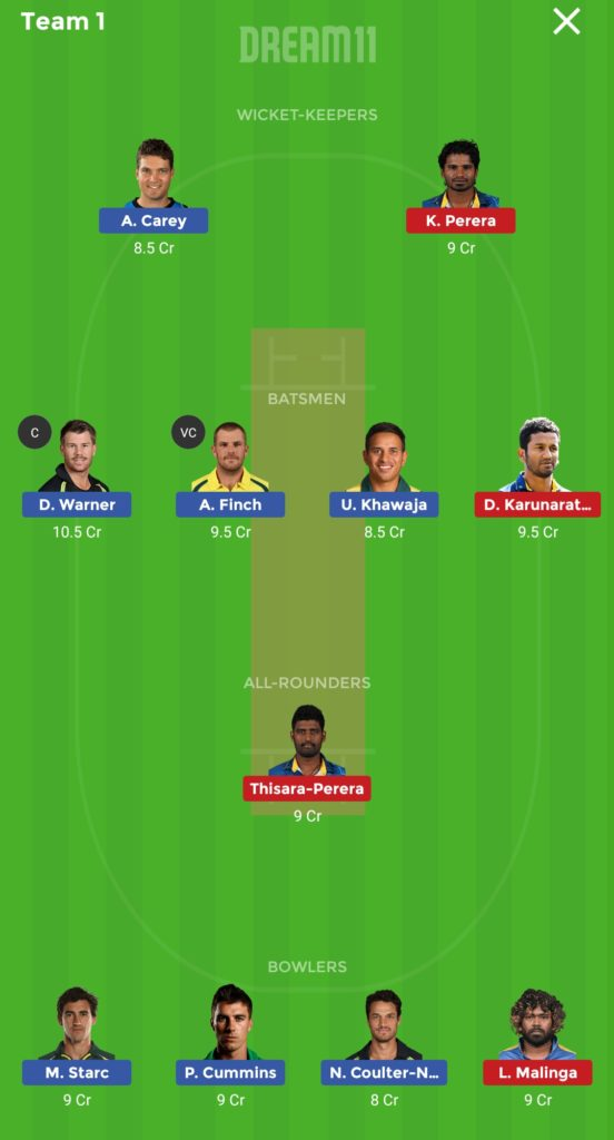 Sri Lanka vs Australia Dream 11 match 20 team 1 552x1024 - Sri Lanka vs Australia Dream 11 match 20 Prediction